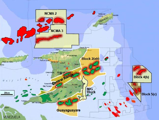 Map Of Trinidad And Tobago Natural Resources