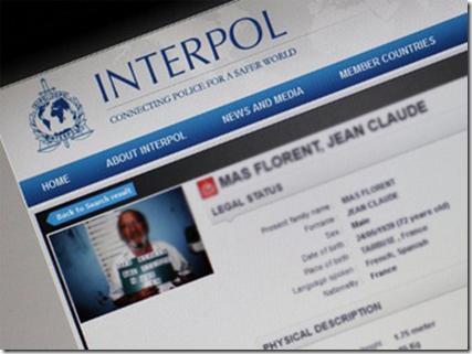 "The Interpol Website, via ""Liquid Mud"" Blog"